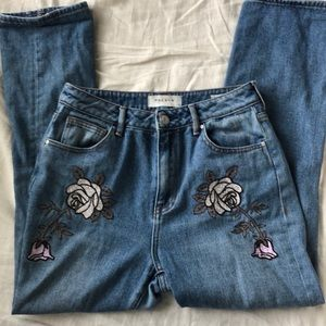 Pacsun embroidered jeans
